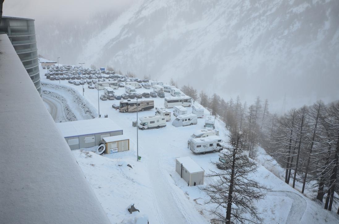 S karavanem na hory – Saas Fee, Švýcarsko