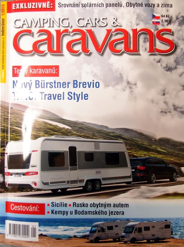 Článek o naší firmě v časopisu Camping, Cars and Caravans