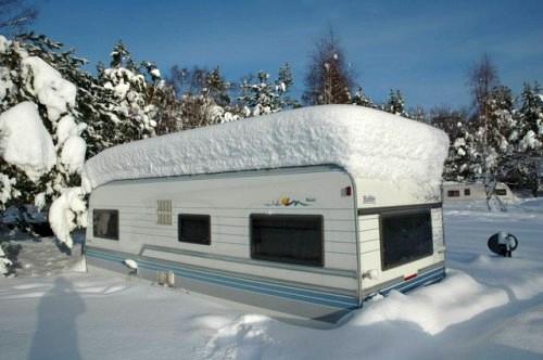Příprava karavanu na zimu